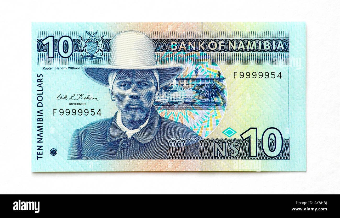 Namibia 10 Dollar bank note - Stock Image
