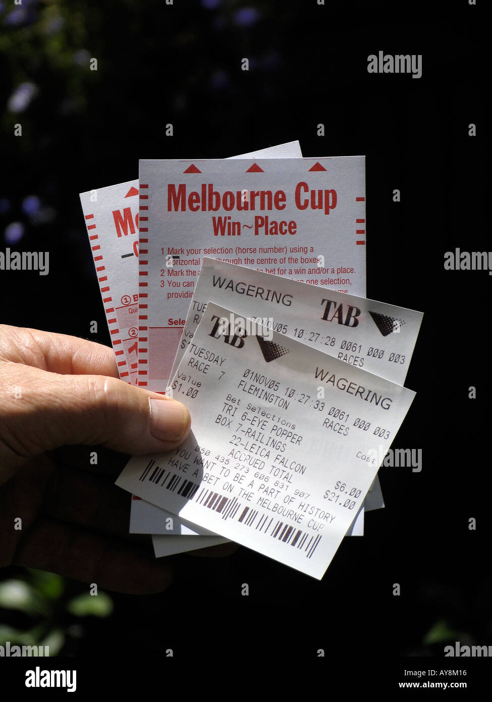 melbourne cup betting slip images