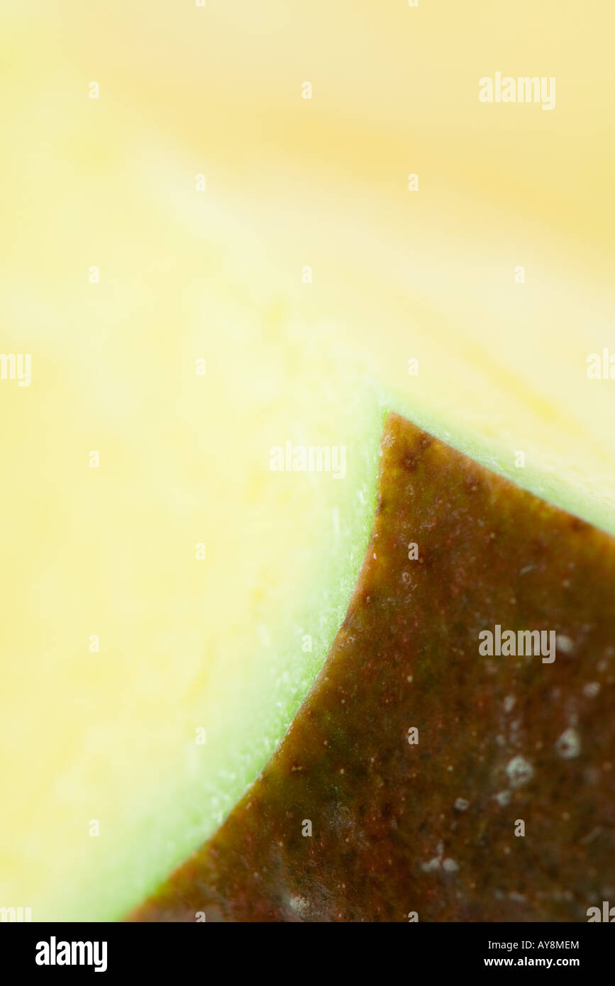Apple, abstract, extreme close-up - Stock Image