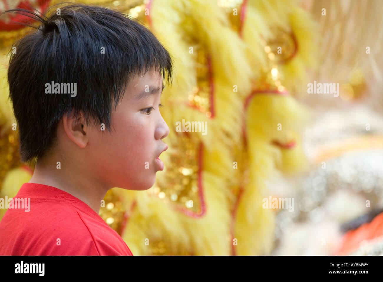 1997 2007 celebrations of the handover of Hong Kong back to China - Stock Image