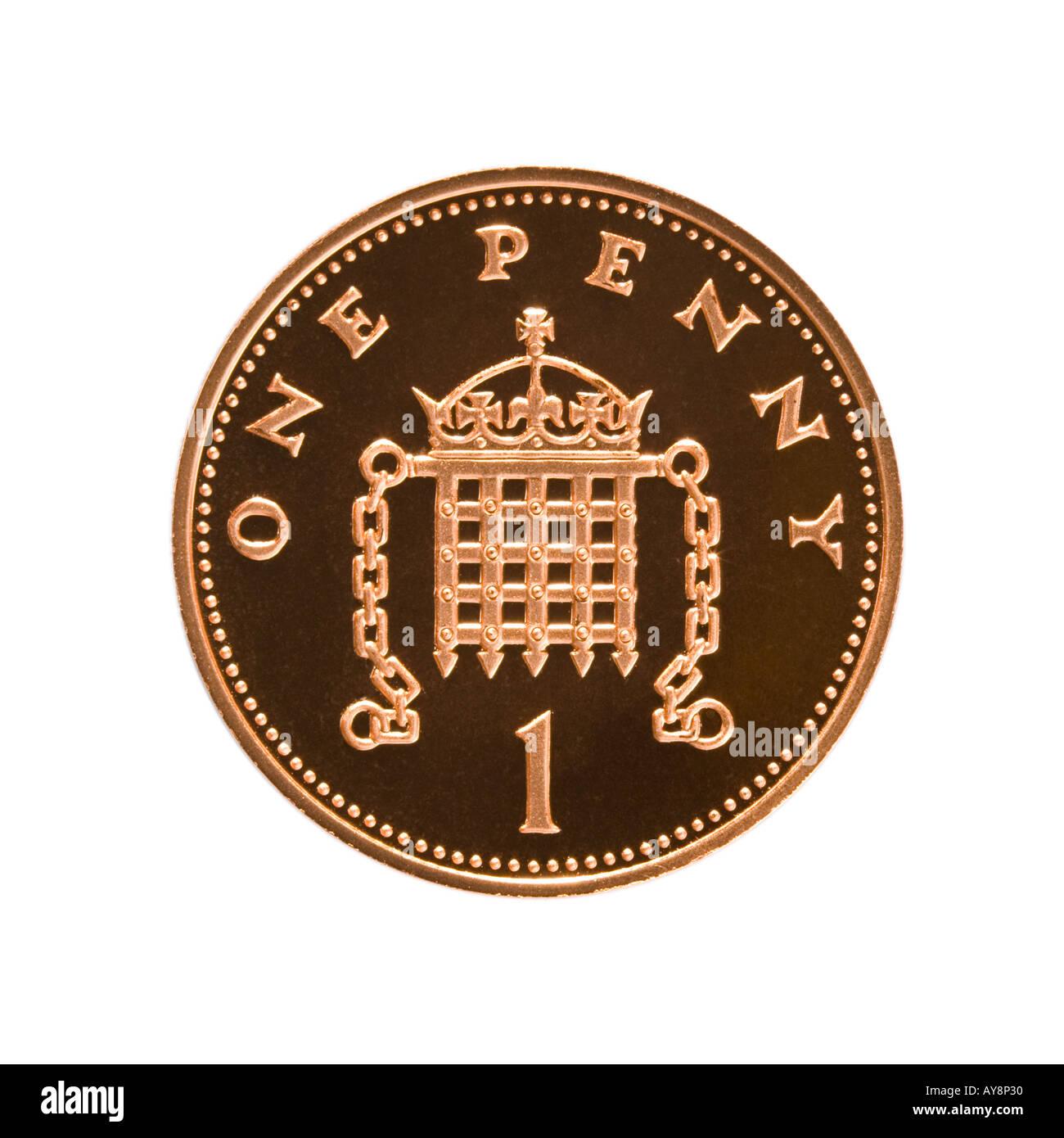 1 pence coin Stock Photo