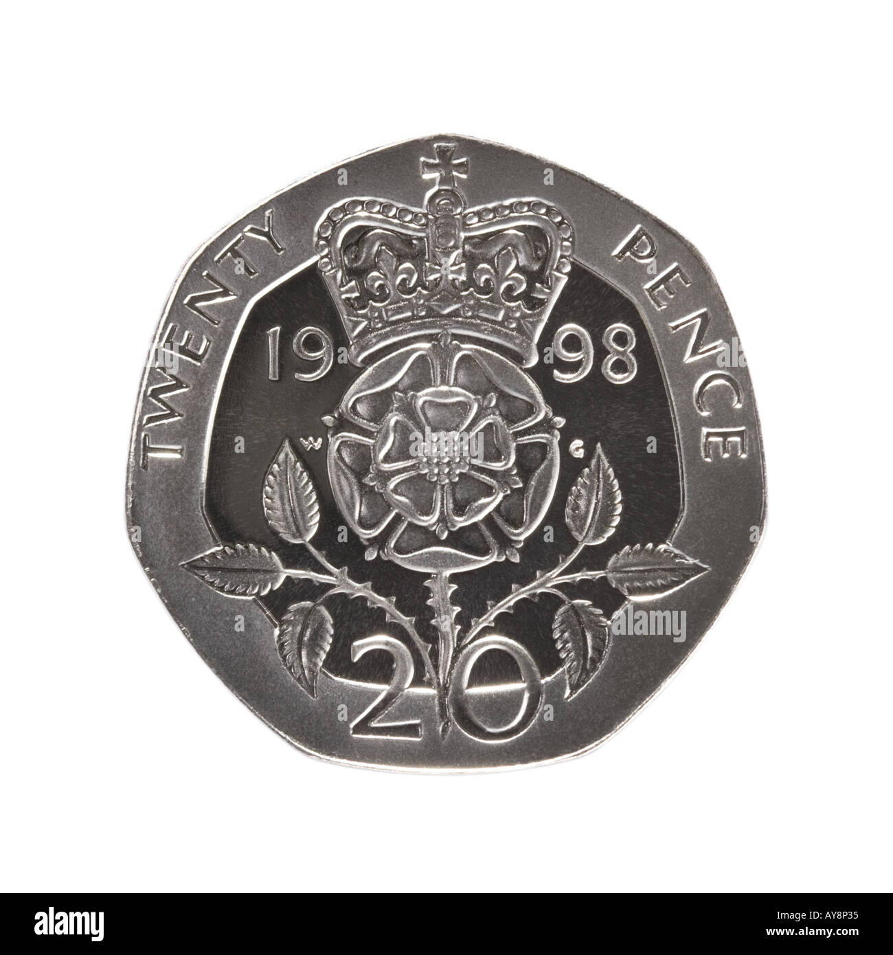 20 pence coin - Stock Image