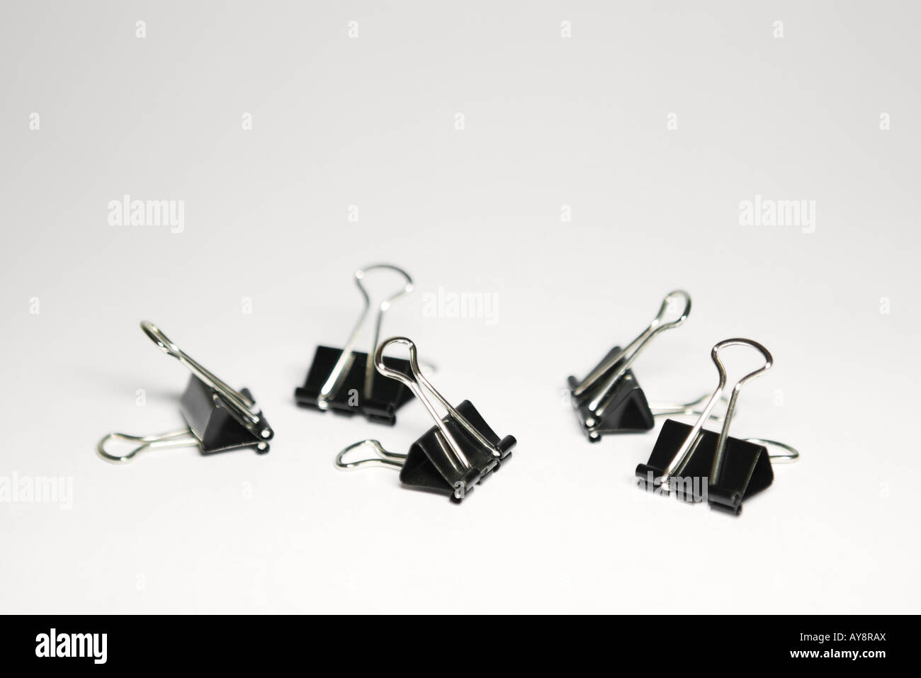 Binder clips, close-up - Stock Image