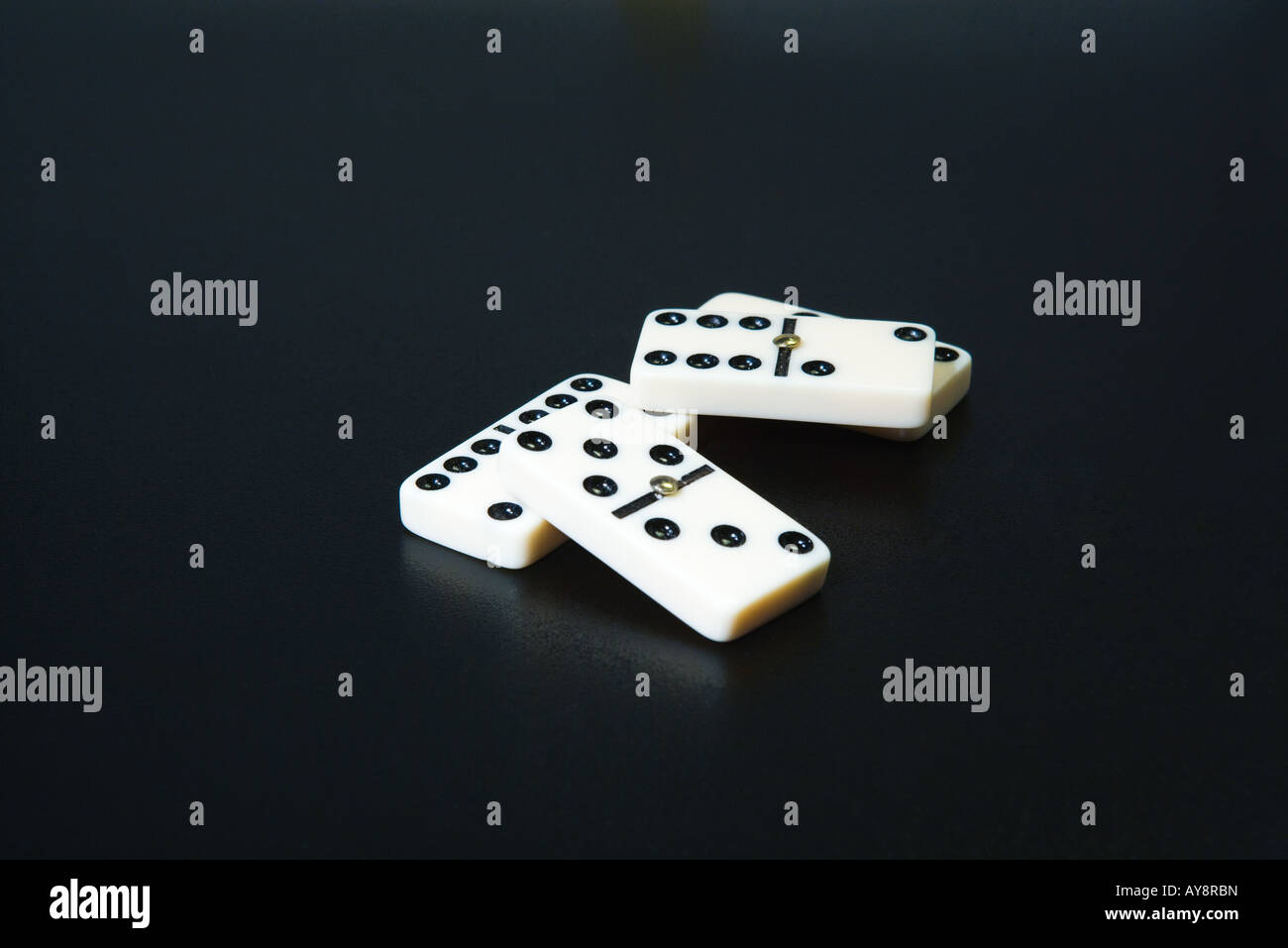 Dominoes, close-up - Stock Image
