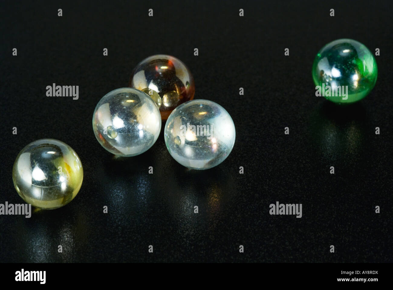 Glass marbles, close-up - Stock Image