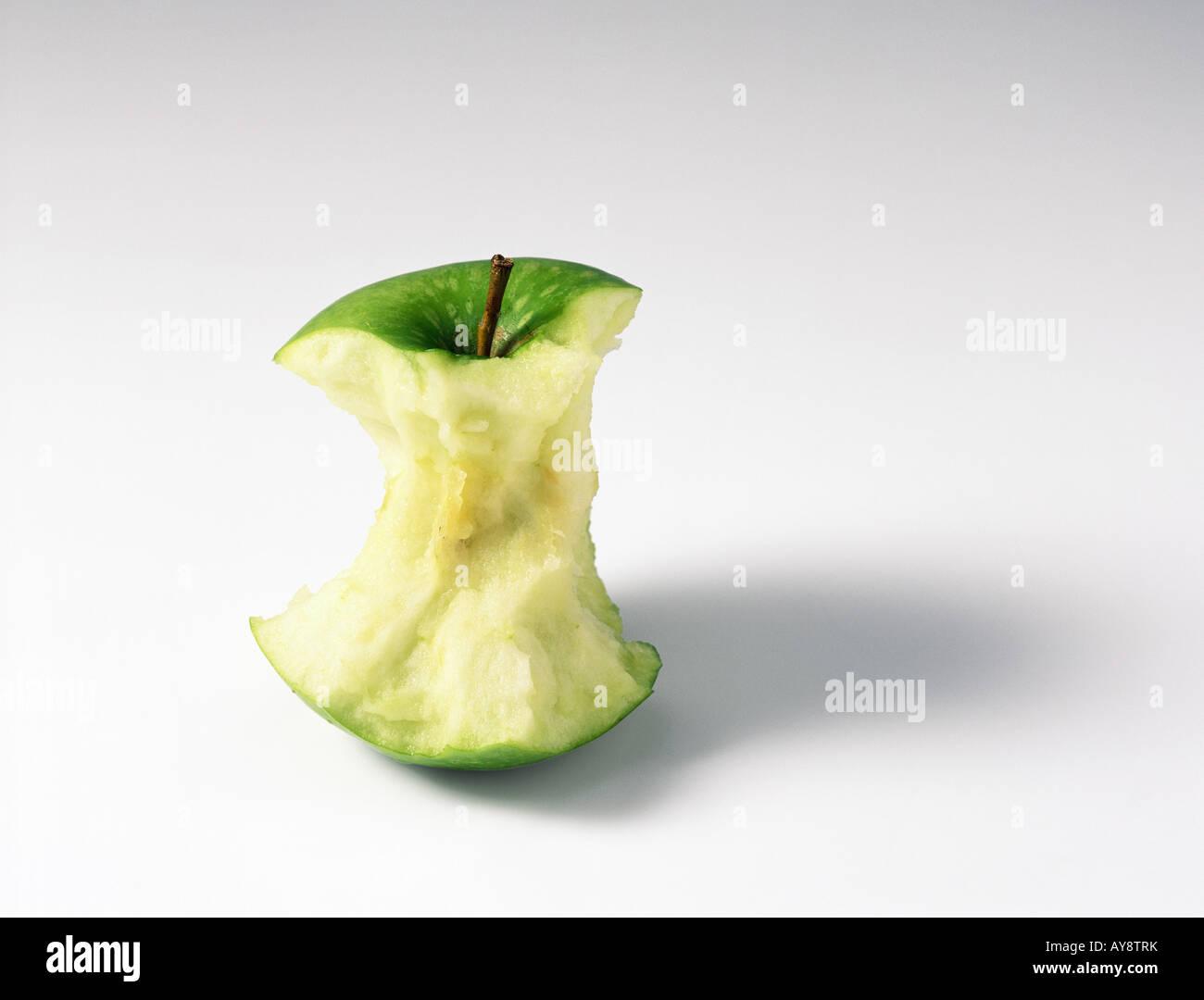 Apple core, close-up - Stock Image