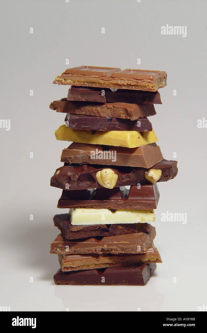 Schokoladenstapel Stock Photo