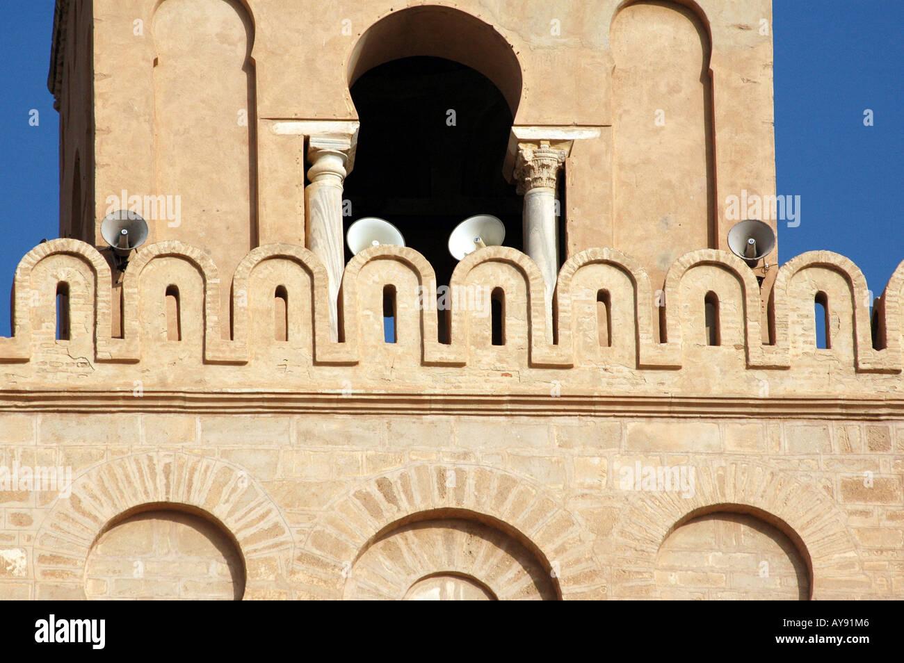 Sidi Okba Mosque also called Great Mosque, Kairouan in Tunisia - Stock Image