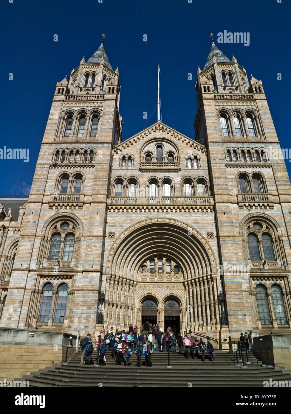 main entrance, Museum of Natural History, London - Stock Image