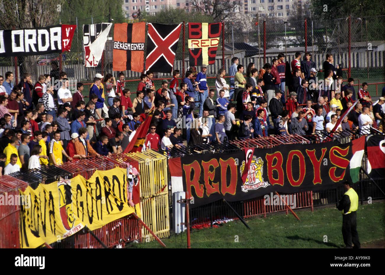 supporters of Kispest Honved football club, Bozsik stadium