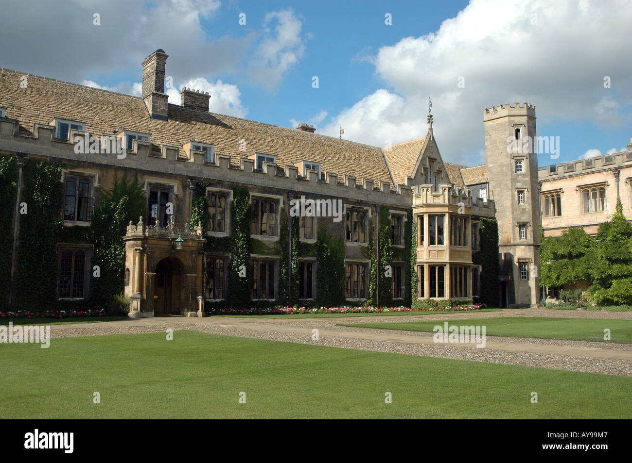 Master's Lodge at Great Court of Trinity College in Cambridge, UK - Stock Image