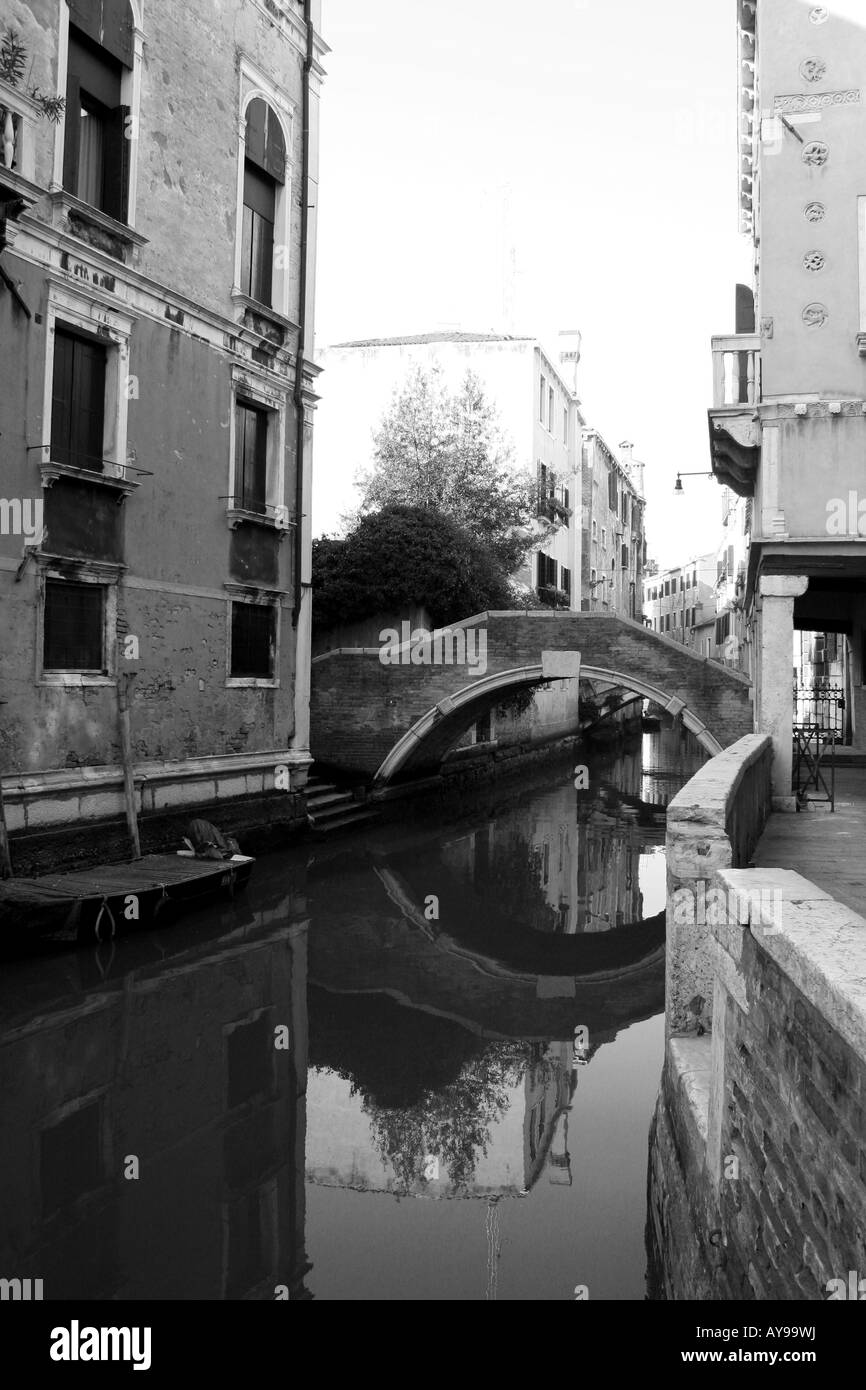 Venice Italy Buildings and Canals - Stock Image