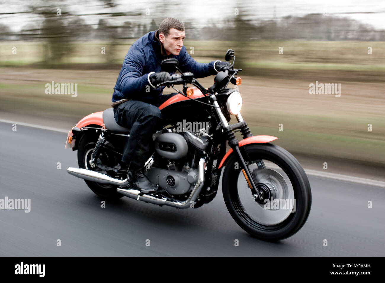 MAN ON HARLEY DAVIDSON Stock Photo: 17035216 - Alamy