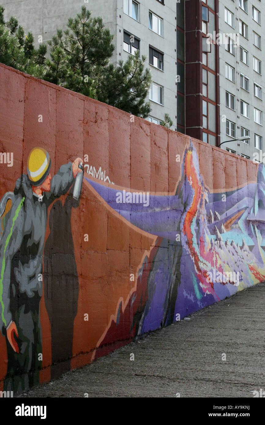 'Graffitti Petrzalka ' - Stock Image
