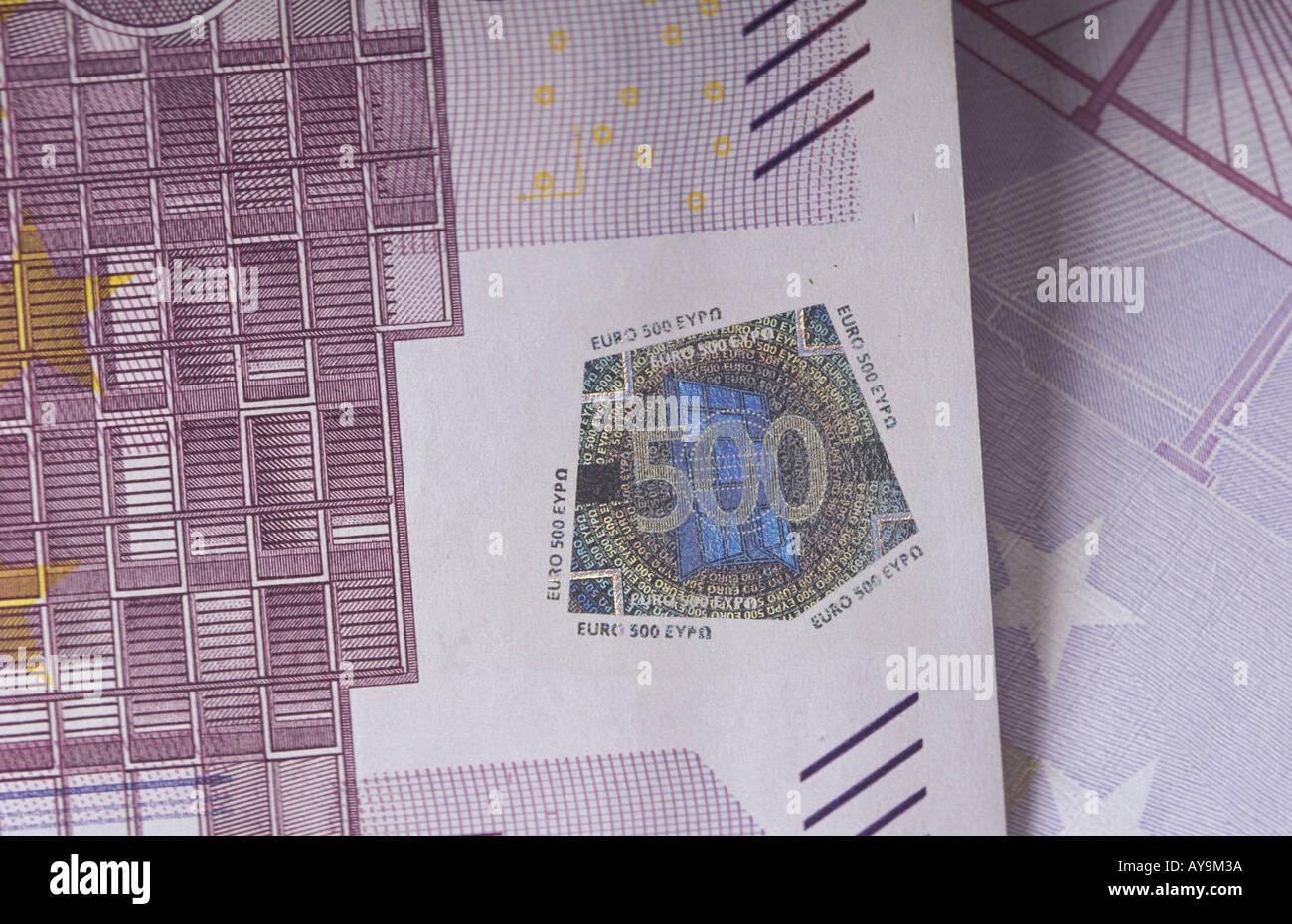 500 Euro Note Stock Photo