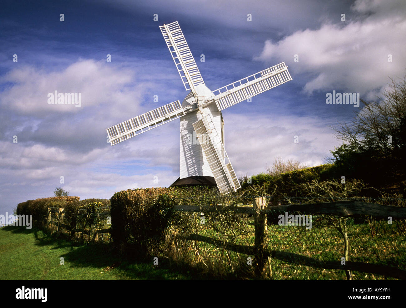 Jill Windmill near Clayton South Downs east Sussex - Stock Image