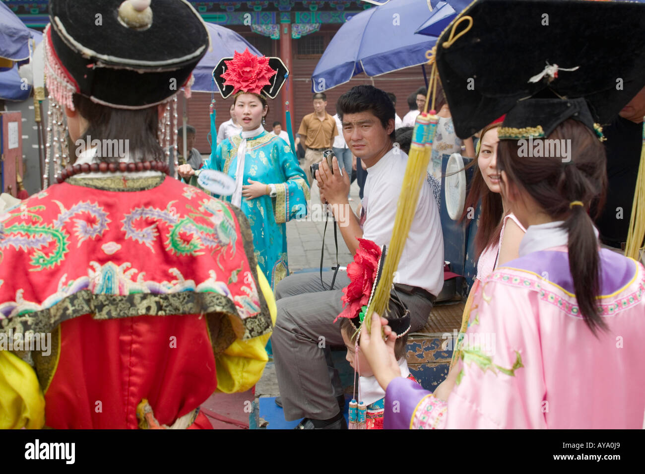 Asia China Beijing Chinese tourists wear imperial era costumes while posing for souvenir snapshots at photo studio near the Gate  sc 1 st  Alamy & Asia China Beijing Chinese tourists wear imperial era costumes while ...