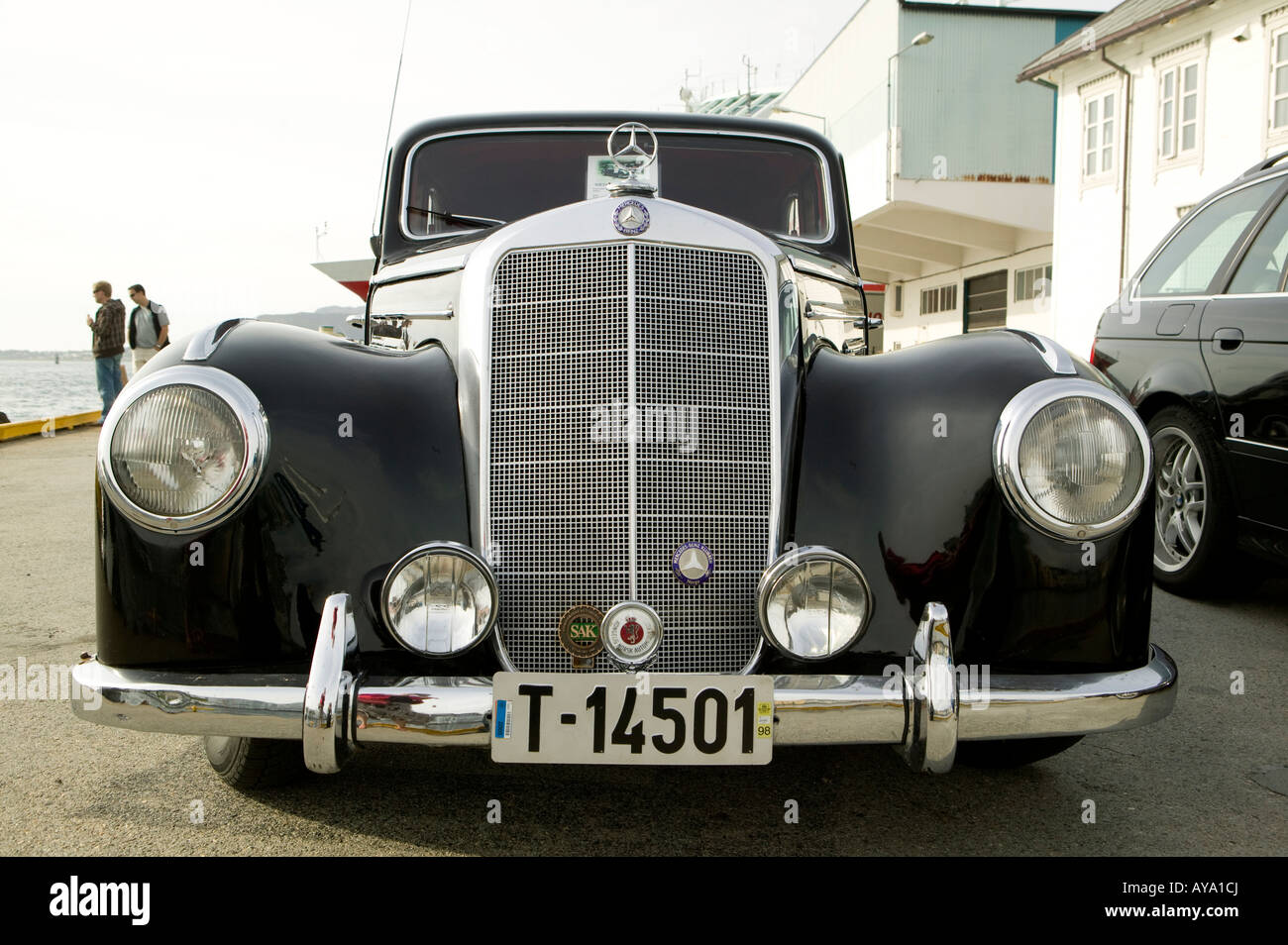 Mercedes, Benz, front, grill, Vintage, car, auto, automobile Stock ...