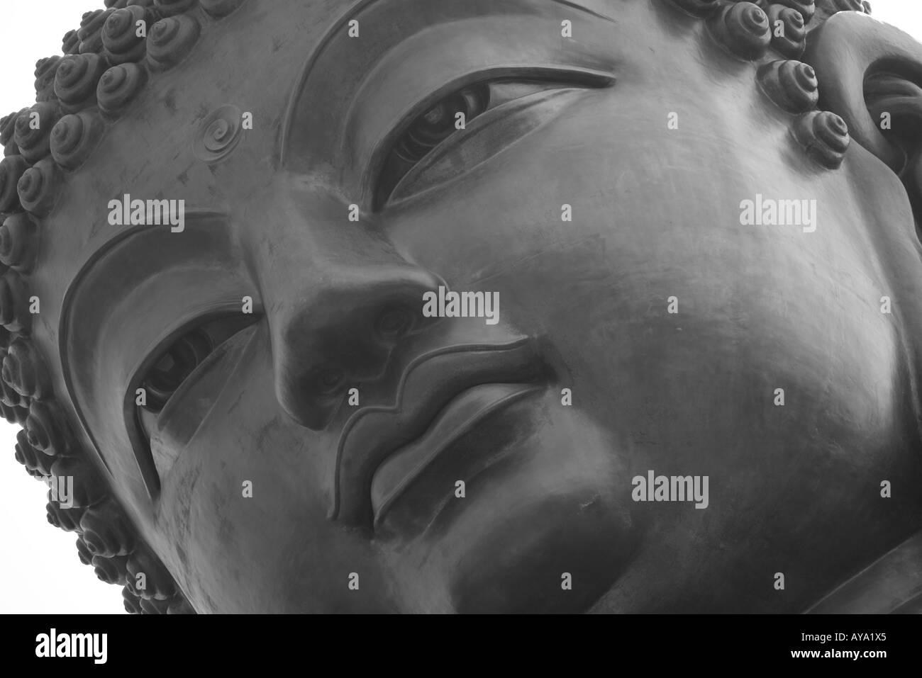 Asia Peoples Republic of China Hong Kong Tian Tan Buddha Statue at Po Lin Monastery on Lantau Island - Stock Image