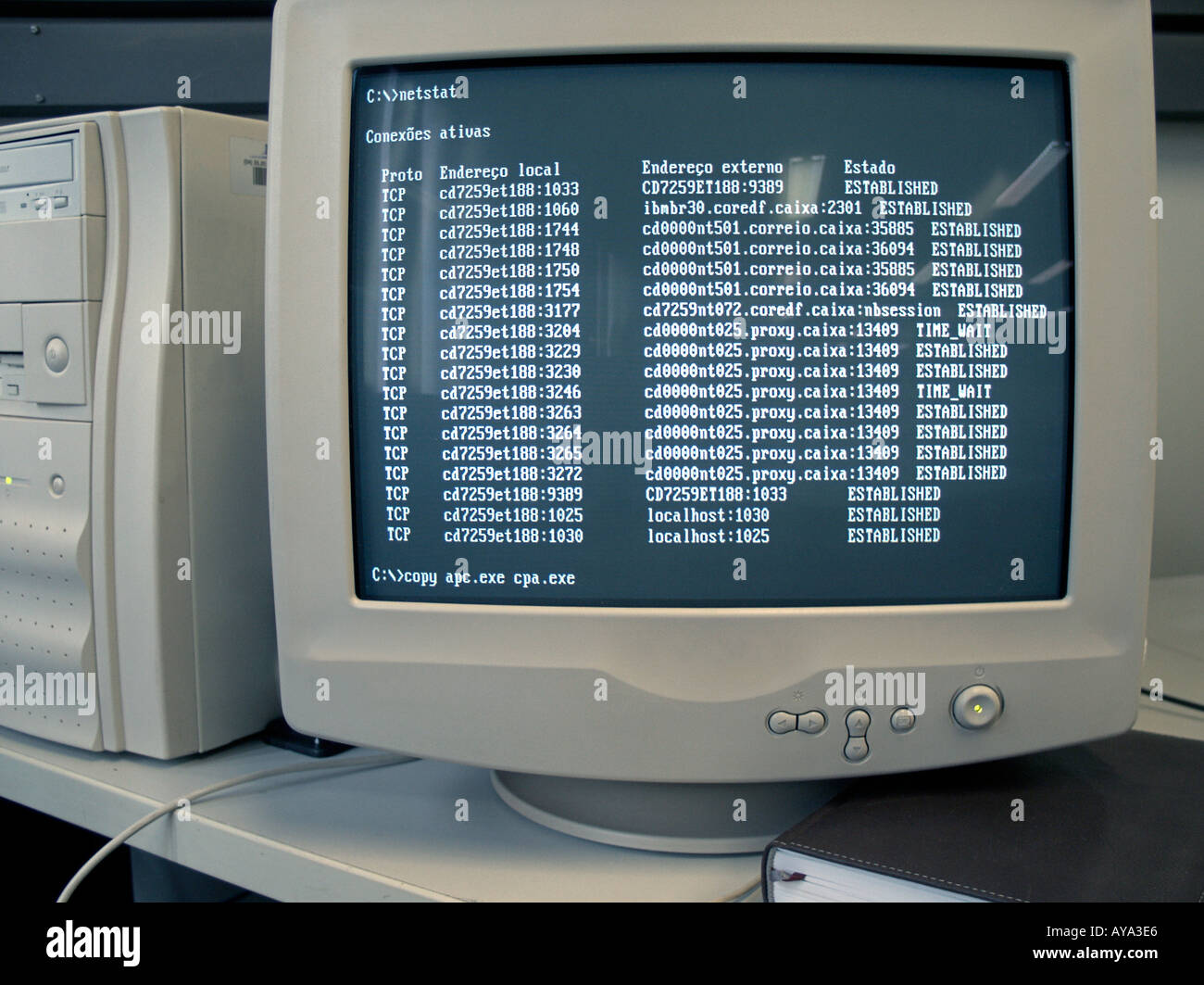 PC Computer MS DOS Screen Stock Photo: 1811429 - Alamy