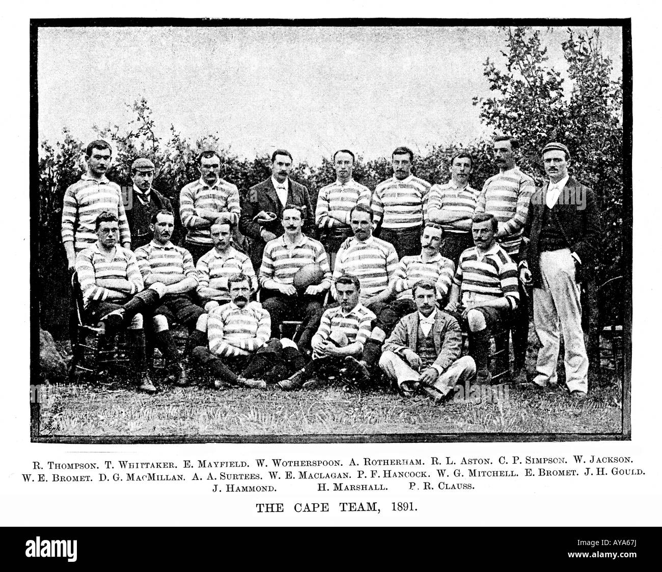 British Team South Africa 1891 The First Official Overseas Tour Of RFU