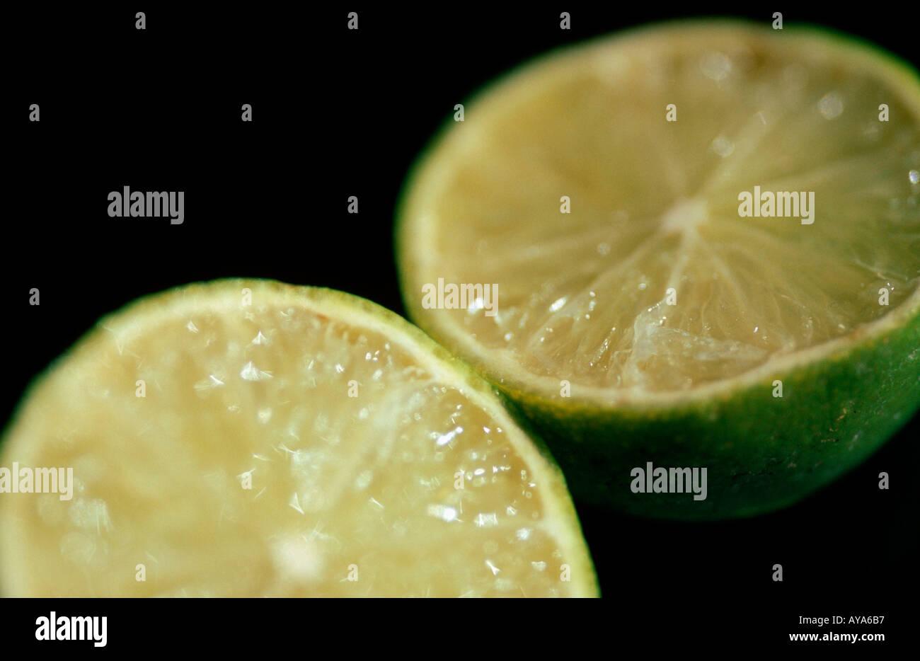 Lime fruits Citrus aurantiifolia Limetten Rautengewaechse Rutaceae Zitrusfruechte citrus fruits Frucht Nahrungsmittel Stock Photo
