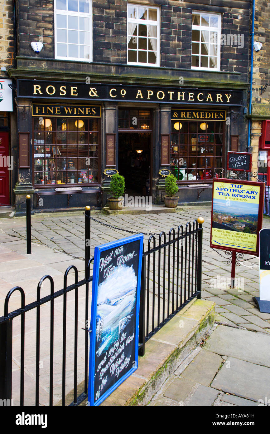 The Old Apothecary Haworth West Yorkshire England Stock