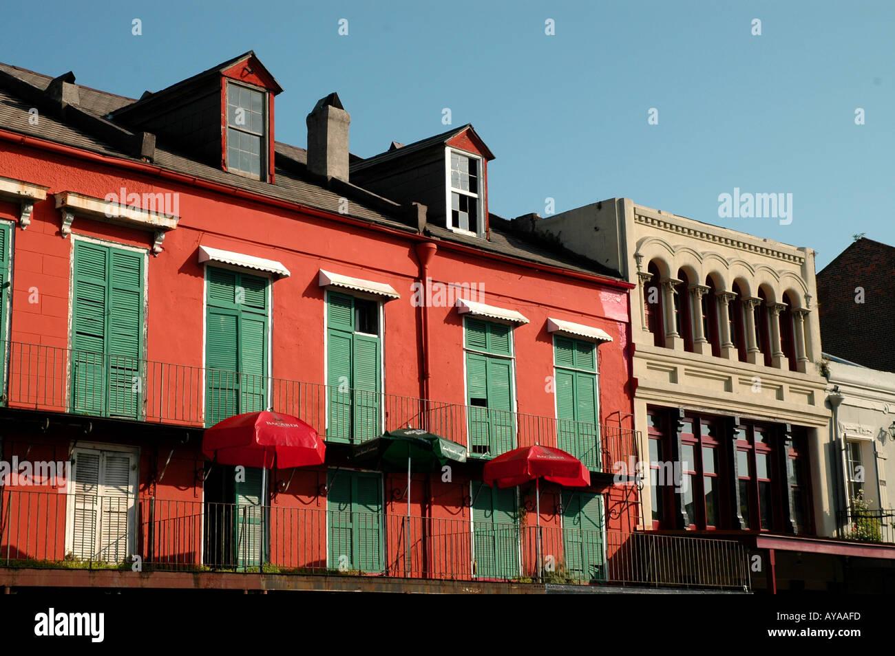 New Orleans LA Louisiana French Quarter building - Stock Image