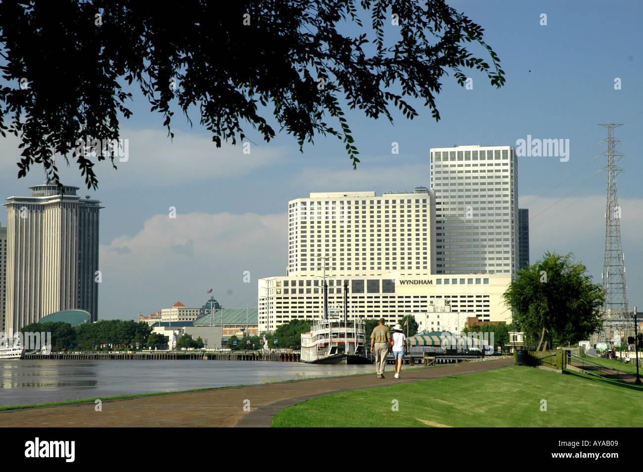 New Orleans LA Louisiana River Walk - Stock Image