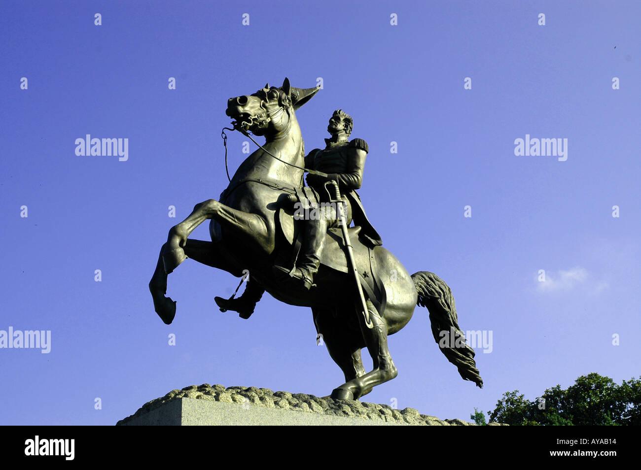 New Orleans LA Louisiana Jackson Square - Stock Image