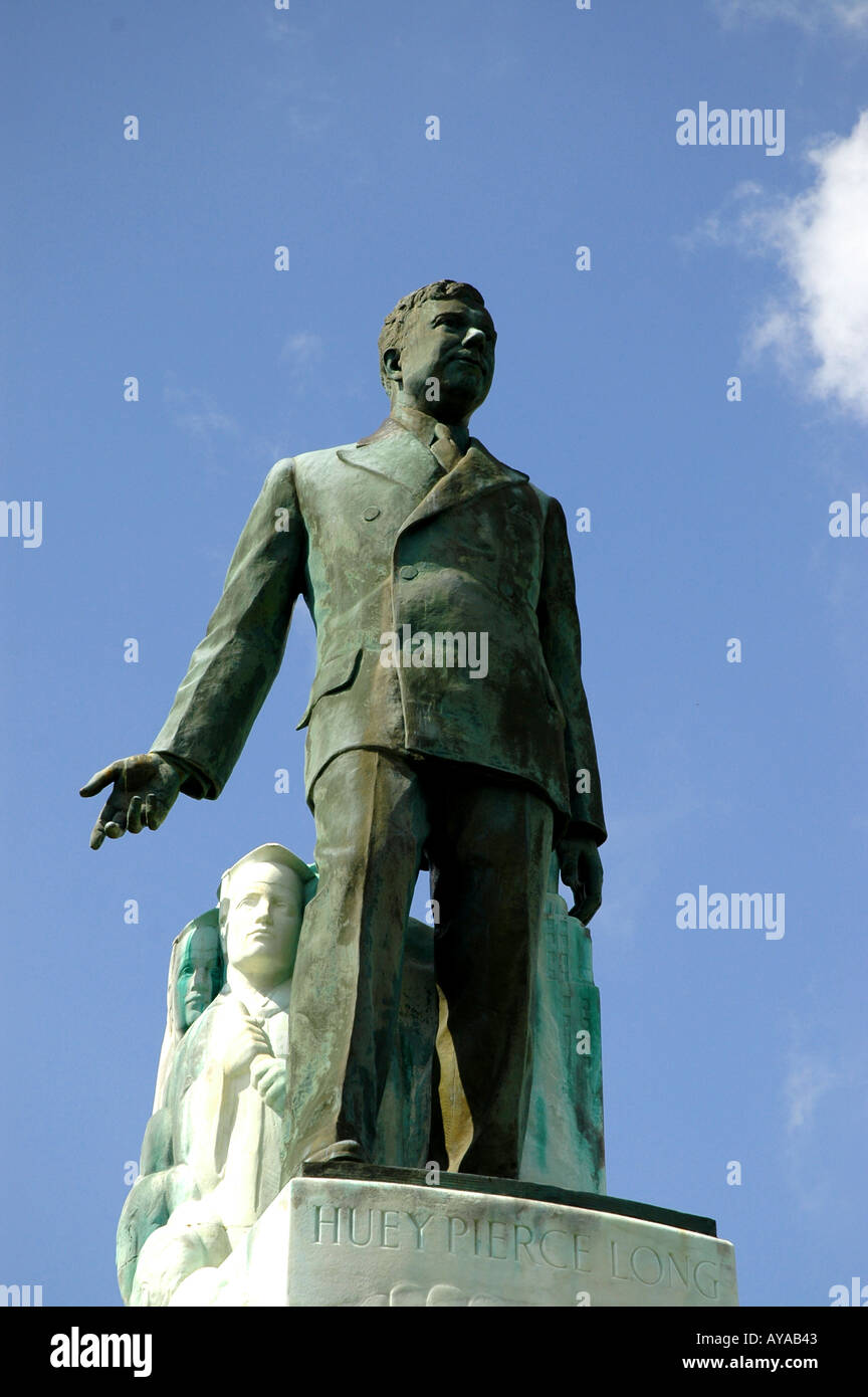 Baton Rouge LA Louisiana Gov Huey P Long statue - Stock Image
