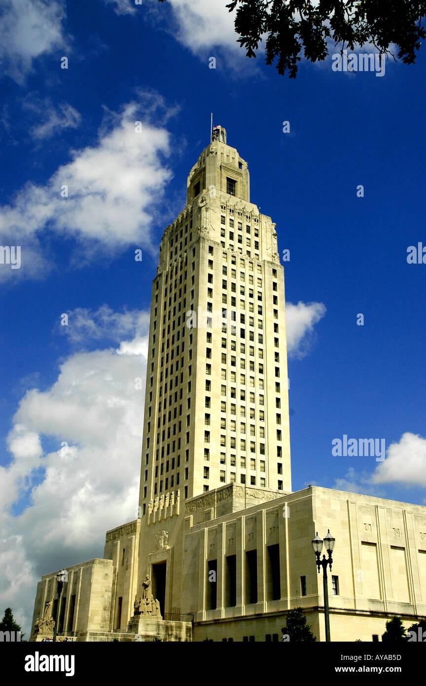Baton Rouge LA Louisiana State Capitol Building - Stock Image