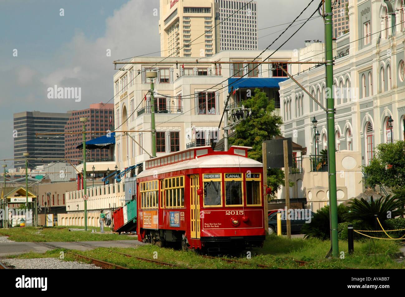 New Orleans LA Louisiana Street Car - Stock Image