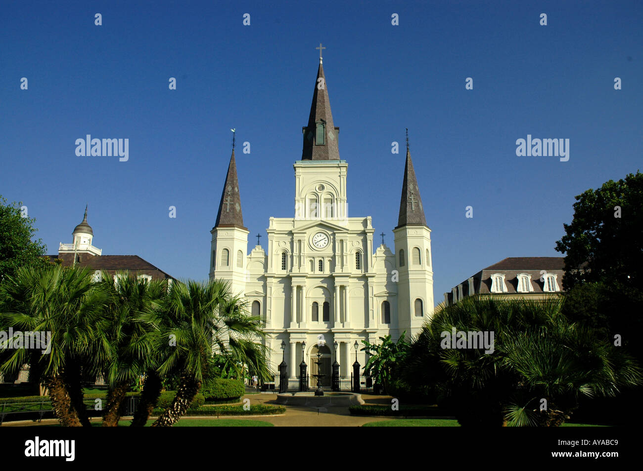 New Orleans LA Louisiana St Louis Cathedral - Stock Image