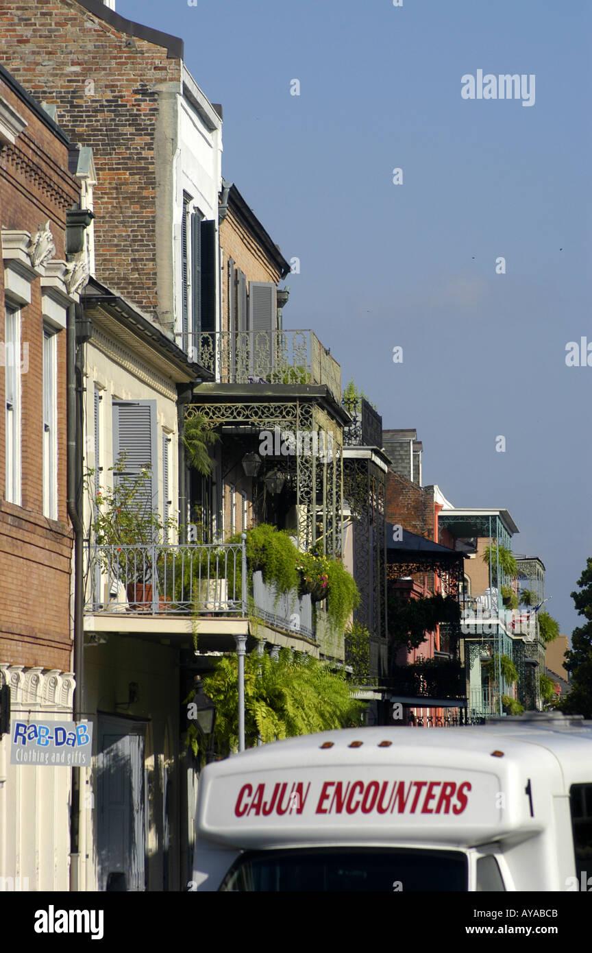 New Orleans LA Louisiana French Quarter buildings - Stock Image