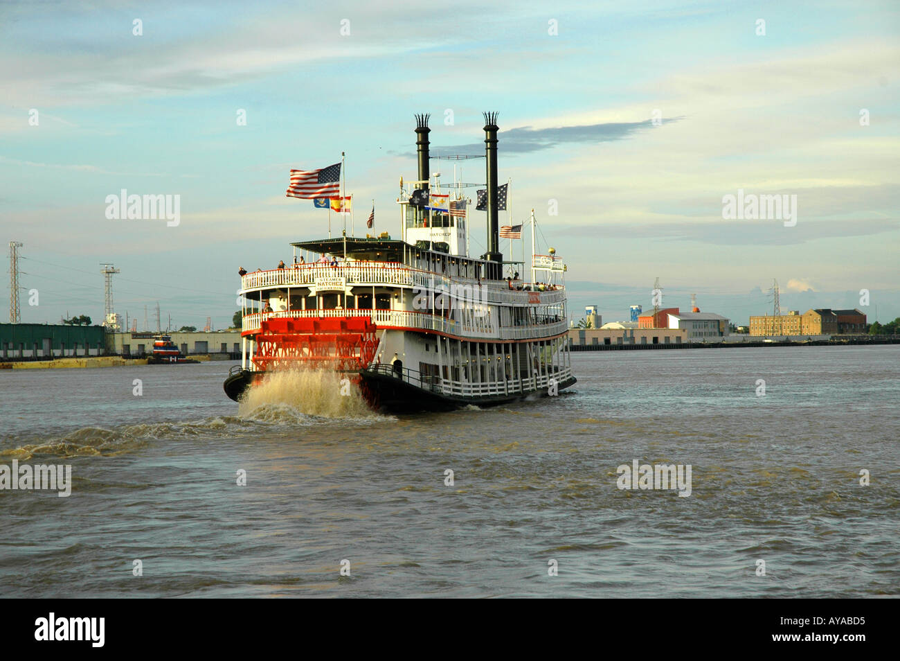 New Orleans LA Louisiana Steamboat - Stock Image