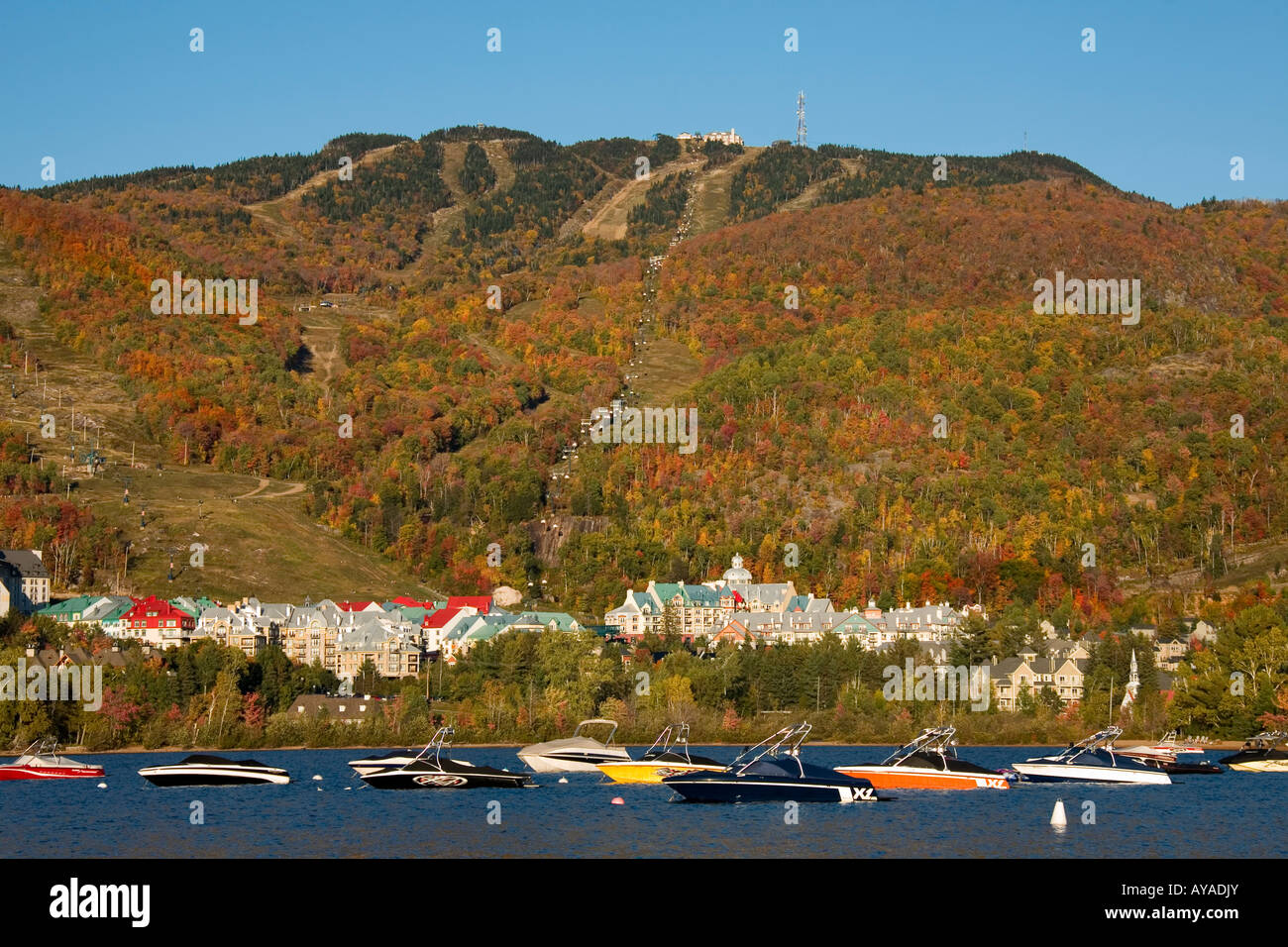 Mont Tremblant, Lac Tremblant, Quebec, Canada - Stock Image