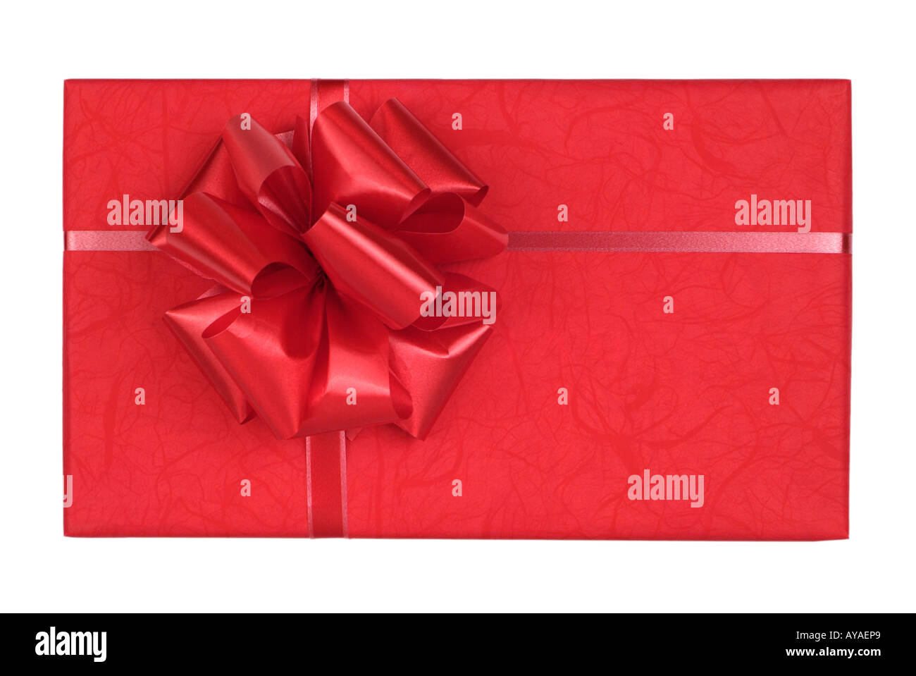Gift Wrapped Present - Stock Image