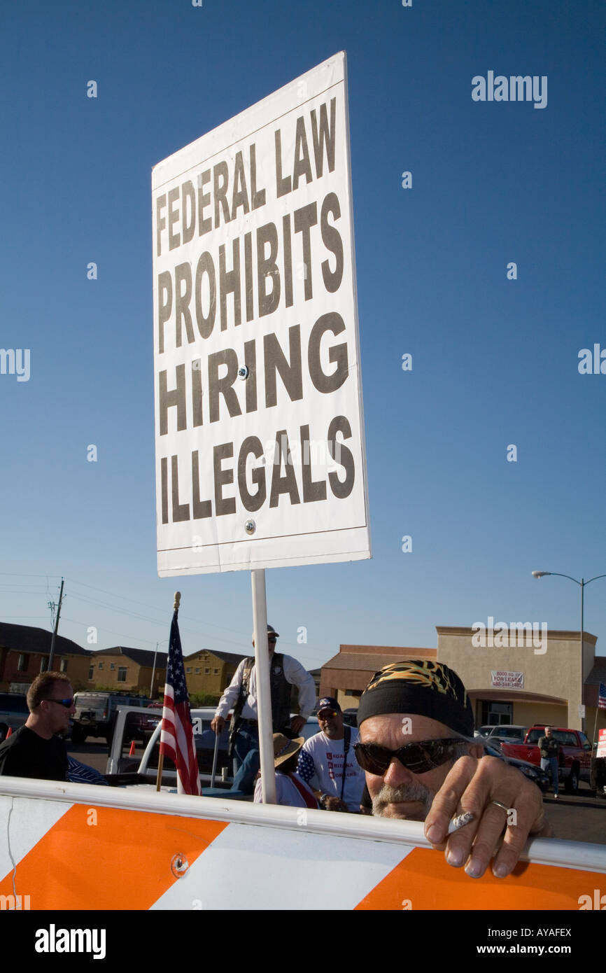 Immigration Protest - Stock Image