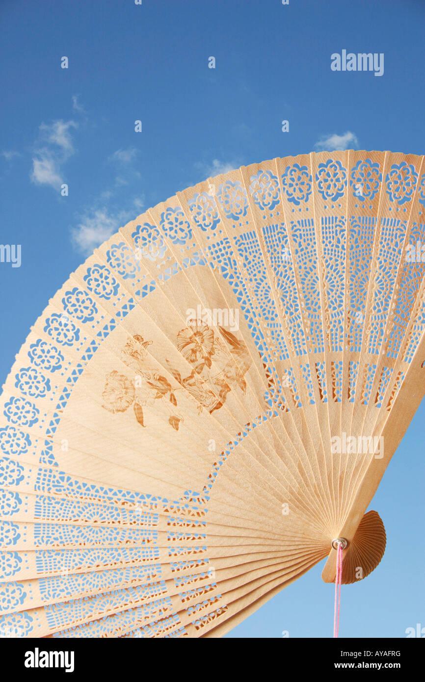 A sandalwood chinese fan Stock Photo: 17046339 - Alamy