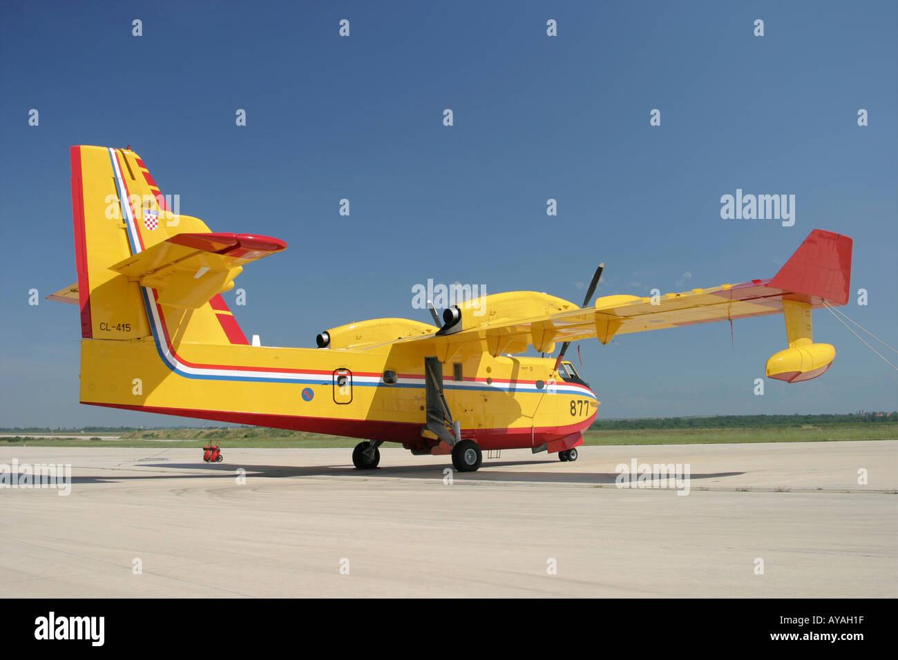 Canadair CL-415 '877' water bomber Croatian Air Force - Stock Image