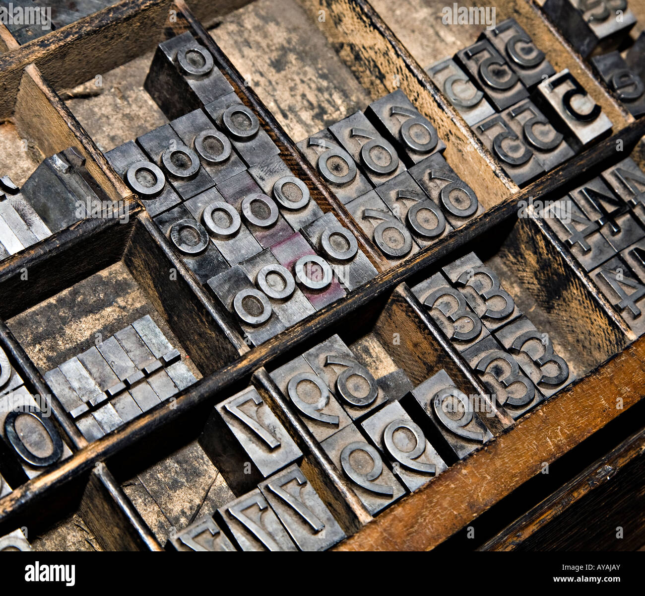 Hot metal type for printing press Stock Photo: 17047202 ...