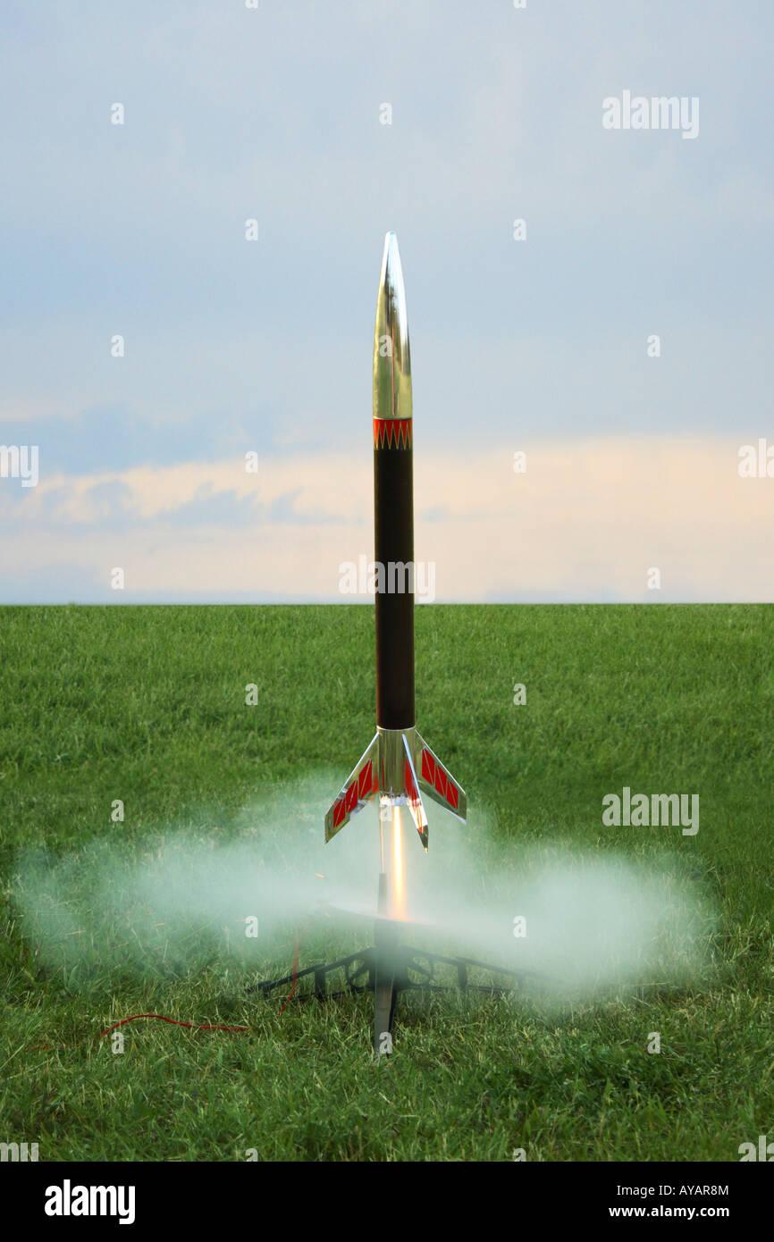 Rocket launch - Stock Image