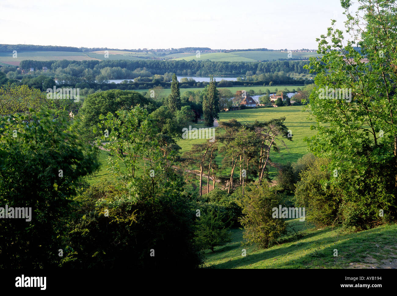 Thames Valley near to Cookham Stock Photo