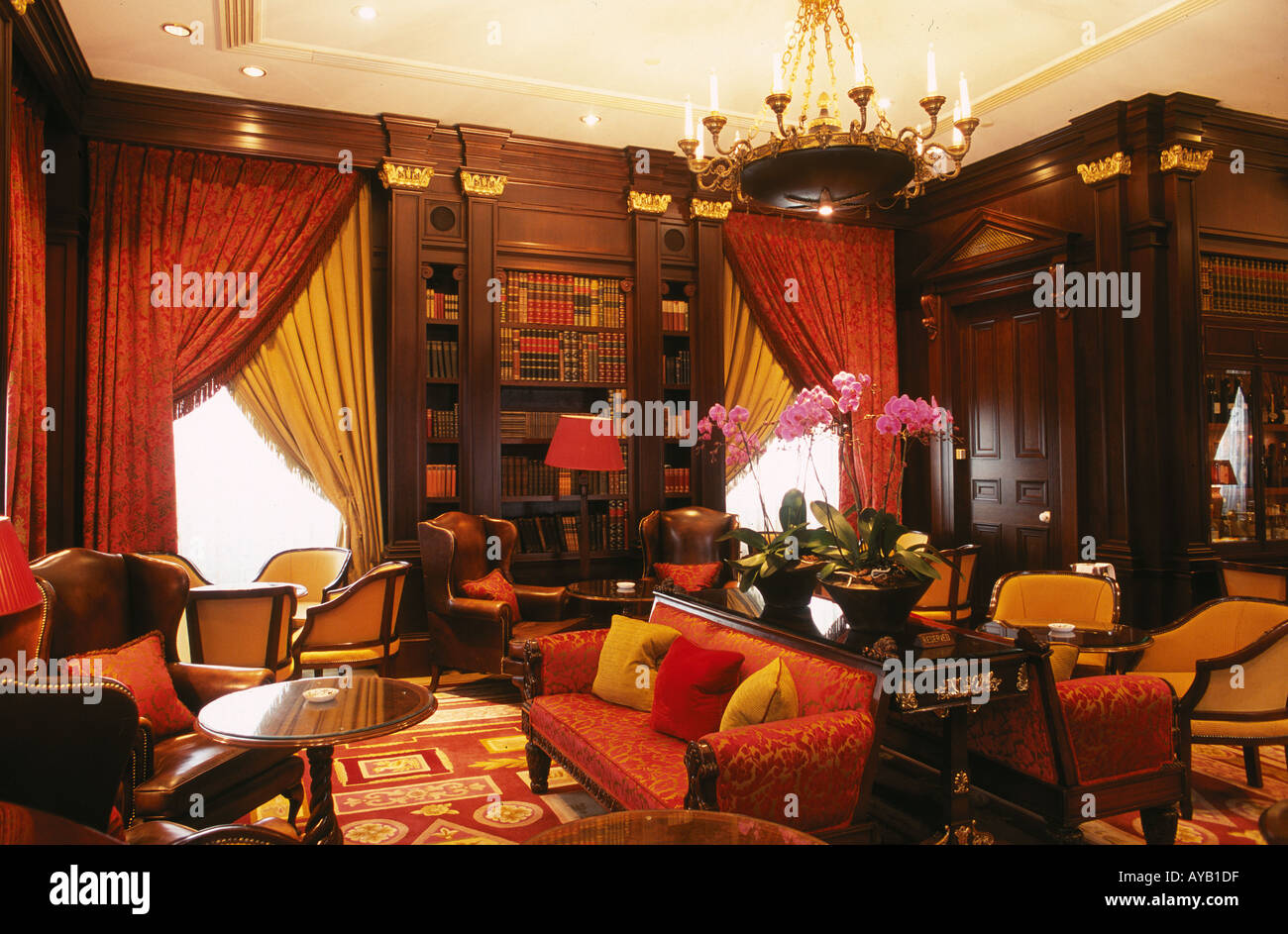 Library Room at the Lanesborough hotel Hyde Park Corner London - Stock Image