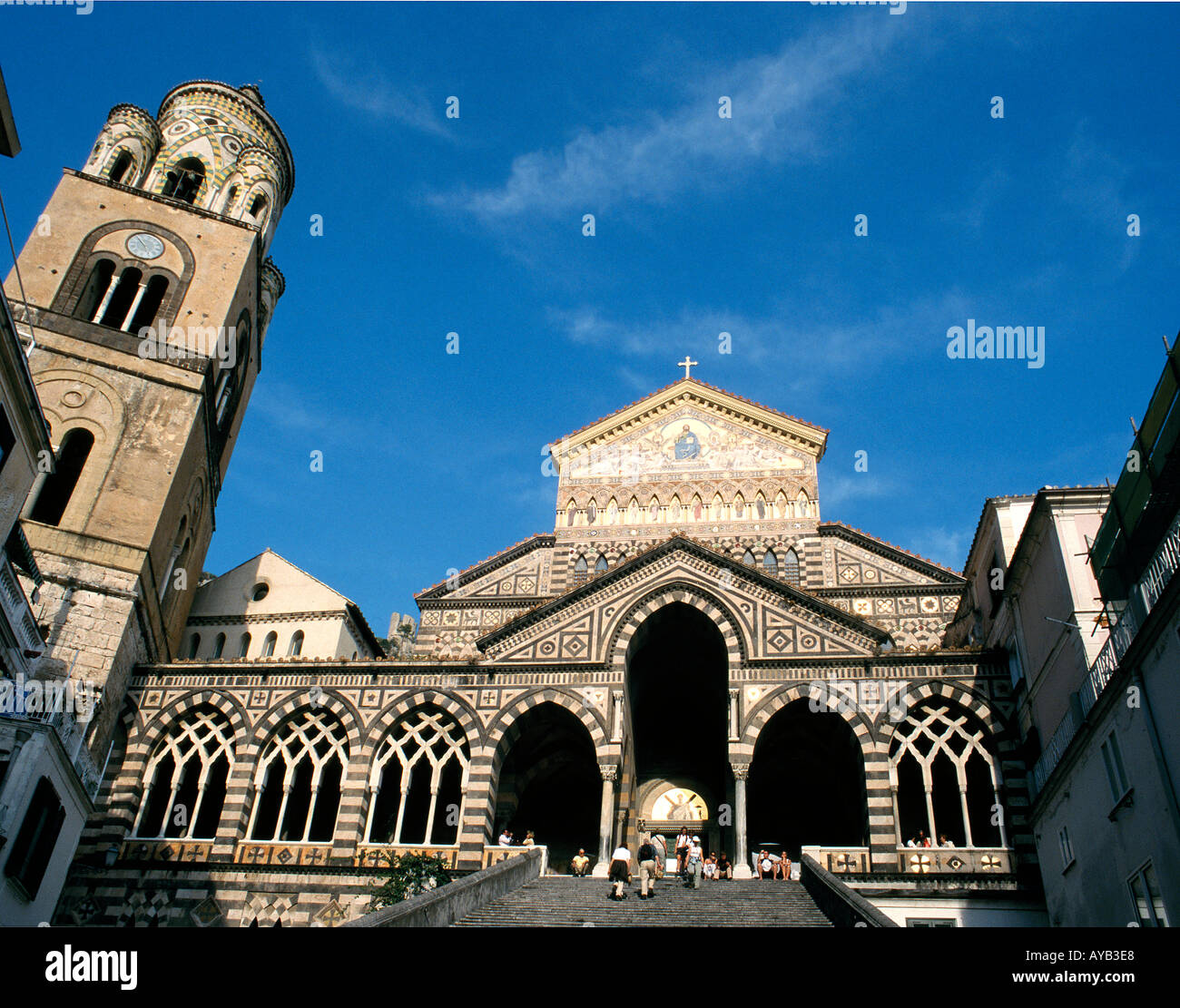 Amalfi. The 9th Century Cathedral . Italy - Stock Image
