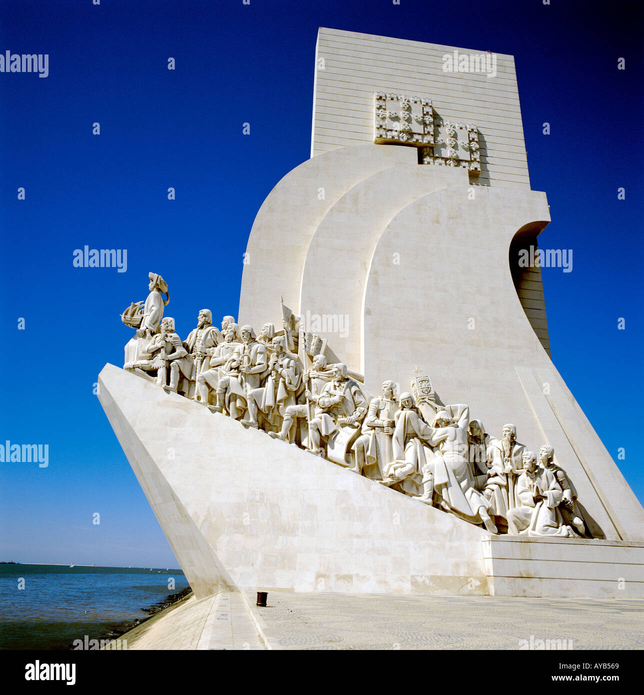 Discoverors Monument Lisbon - Stock Image