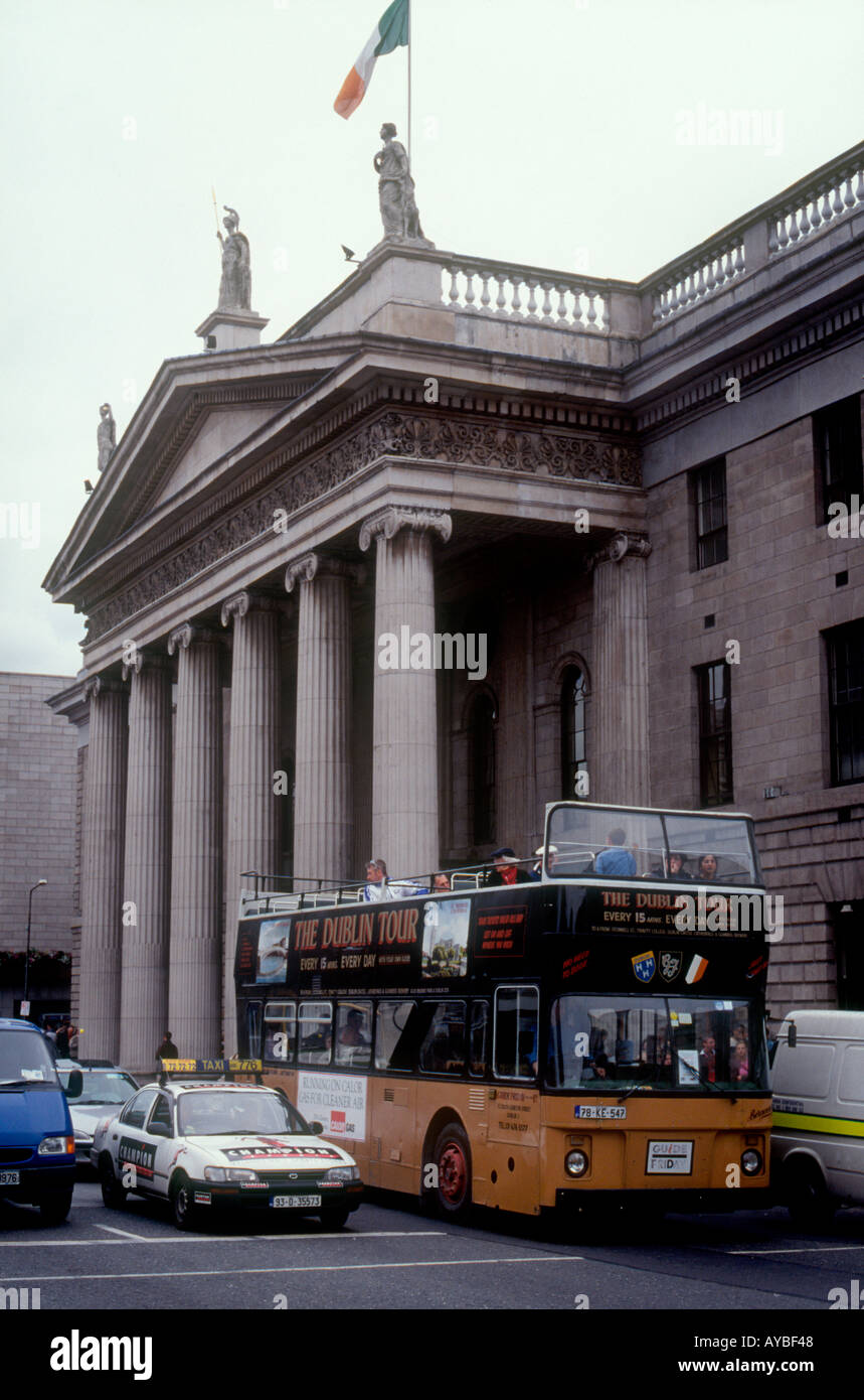 The General Post Office in O'Connell st Dublin scene of the 1916 Easter republican Uprising - Stock Image