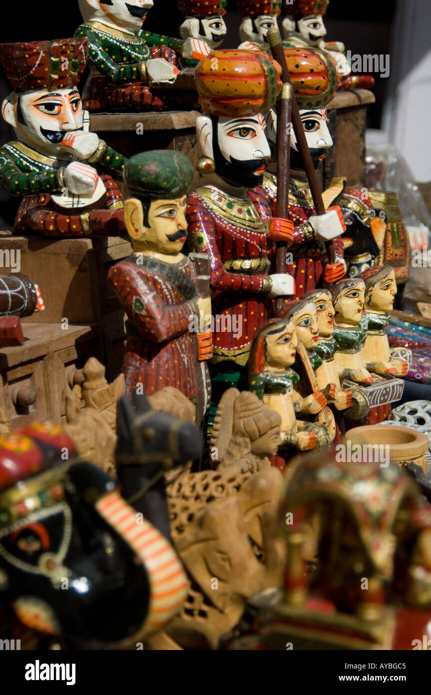 Collection Of Wooden Toys For Sale On A Market Stall Inside The Red