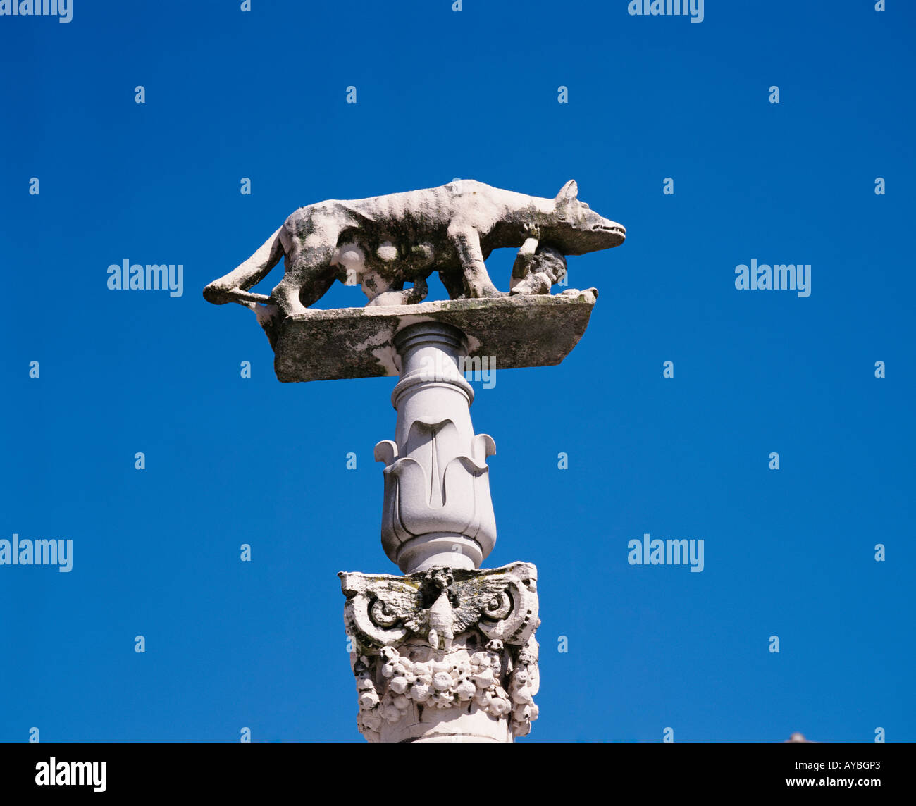 ITALY  TUSCANY  SIENA ROMULUS REMUS STATUE DUOMO DI SANTA MARIA DELL ASSUNTA - Stock Image